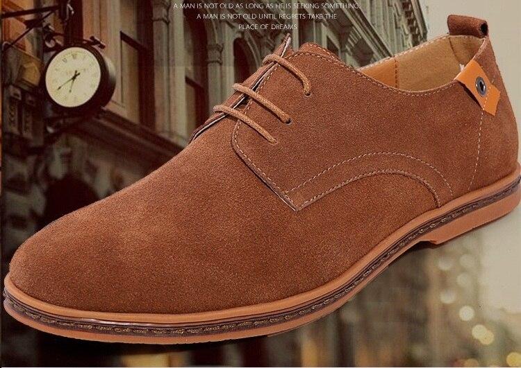 Classic Men Flats Gentleman Oxford Genuine Leather Dress Shoes Men Flat Shoes Luxury Casual Shoes Size 39-47 11
