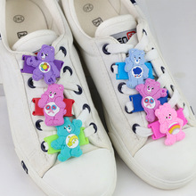 1 Piece Creative Cartoon Cute Rainbow Bear Party Shoes Decoration Supplies Kid DIY Favor Shoelace Protect Buckle