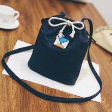2017 Denim Casual Drawstring Bucket Bags Women Messenger Crossbody Bags Ladies Shoulder Purse Phone Handbags Bolsas Feminina