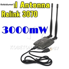 2016 New BT-N9100 Beini USB Wifi Adapter Wireless Network Card Ralink 3070 High Power 3000mW Dual Antenna(China)