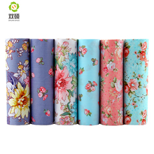 Flowers Twill Cotton Fabric For Sewing Tissue Baby & Children Sheet DIY Patchwork Quilting ,Pillow,Cushion, 6 PCS/LOTS 40*50CM