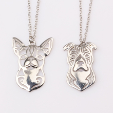 rongji jewelry Pets Puppy 2style Yorkshire Terrier Lovers Alloy Dog long Necklaces cs go Pendant  For Women factory outlet