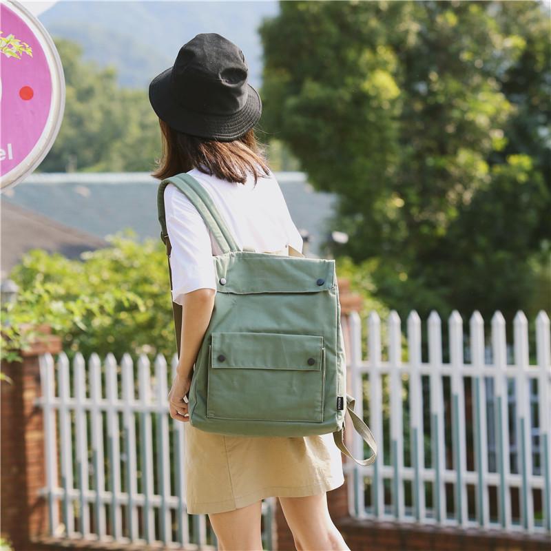 Menghuo Brand Female Women Canvas Backpack Preppy Style School Lady Girl Student School Laptop Bag Cotton Fabric bolsasBXBV1789