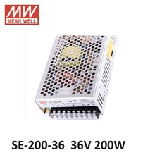 ac dc power source 36V 5.9A 200W Meanwell Switch Power Supply SE-200-36 Industrial Economical medium to high power model 36V