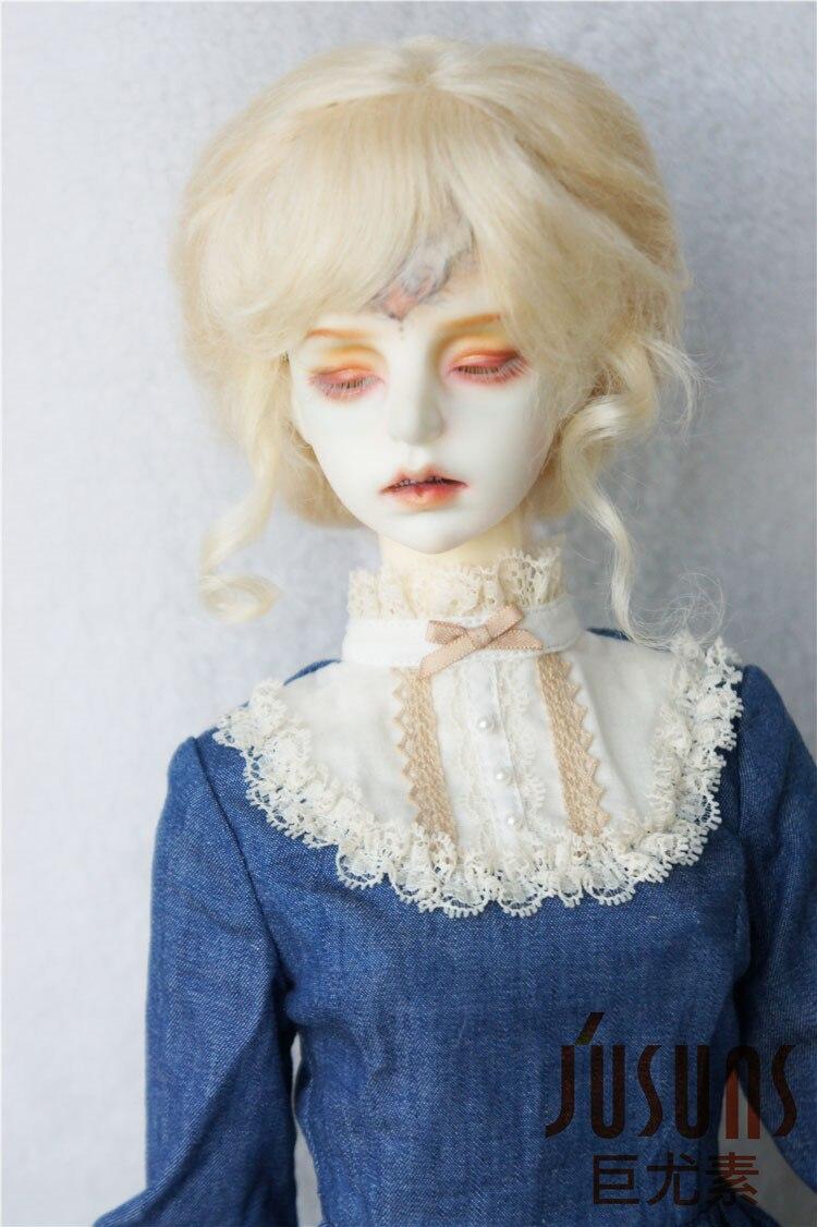 JD160 1/3 MSD Mohair doll wigs  8-9 inch Classical Twist Mohair BJD wigs <br><br>Aliexpress