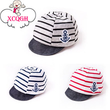 XCQGH Newborn Baby Hat Strip Summer Hat Cotton Casual Soft Eaves Baseball Cap Baby Boy Beret Arrow Print Infant Baby Girl Hat
