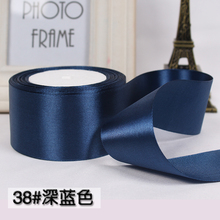 22meter/lot (50mm) (25 yards/roll) Navy blue Single Face Satin Ribbon Gift Wrapping Christmas ribbons Sewing Fabric Hand DIY