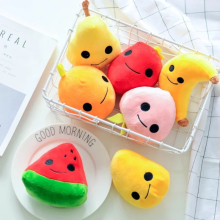Cute soft plush cartoon fruit toy filling with bamboo charcoal package creative family car air cleaning decorated toy gift toys