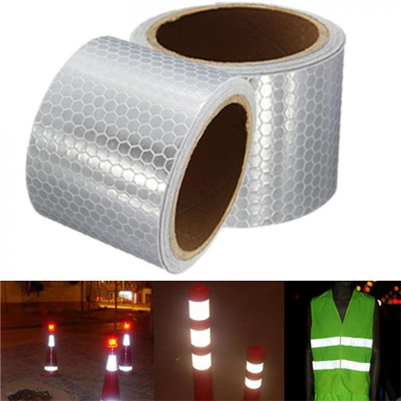 Car Decoration Motorcycle Reflective Tape Stickers Styling Automobiles Safe Material Safety Warning Tape 5x300cm