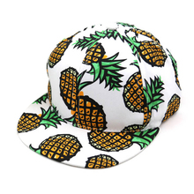 Print Casual Baseball Hat Quality Canvas Cotton Cute Fashionable High Quality Pineapple Snapback Adjustable Pink Black White