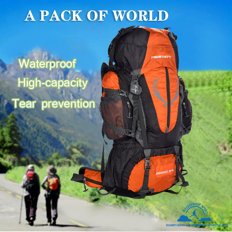 Promostu 85L Outdoor Large Backpack Unisex Travel Climbing Mountaining Backpacks Hiking Capacity Rucksacks Camping Sport 1914