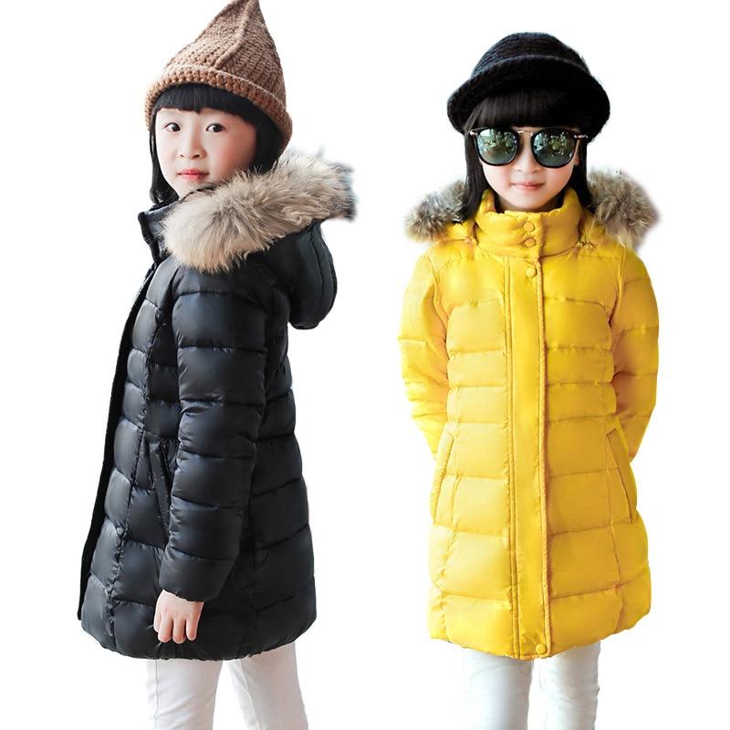 OLEKID 2016 New Winter Children Girls Down Coat Brand Thick Warm Long Jacket For Teenage Girl 4-13 Years Kids OuterwearÎäåæäà è àêñåññóàðû<br><br>
