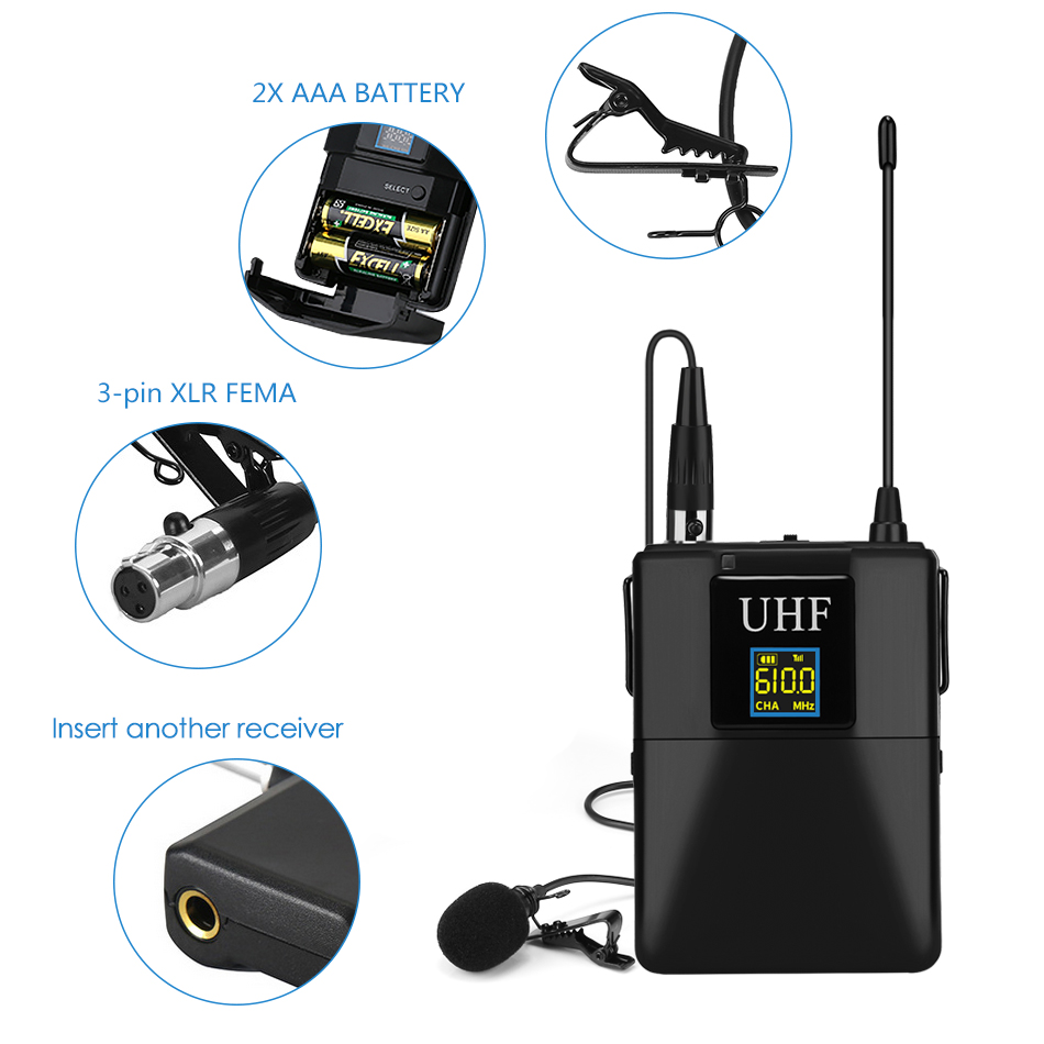 Microphone-Professional-UHF-Wireless-Microphone-System-Lavalier-Lapel-Mic-Receiver-Transmitter-for-Camcorder-Recorder-Microphone (2)