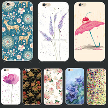 Soft TPU Cover For Apple iPhone 5 5S SE 6 6S 6Plus 7 7 Plus Case Cases Phone Shell High Quality Elegant Styles Painted Flowers