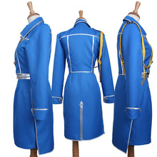 Fullmetal Alchemist Cosplay Costume Roy Mustang Blue Army Uniform With Blue Pants New Free Shipping