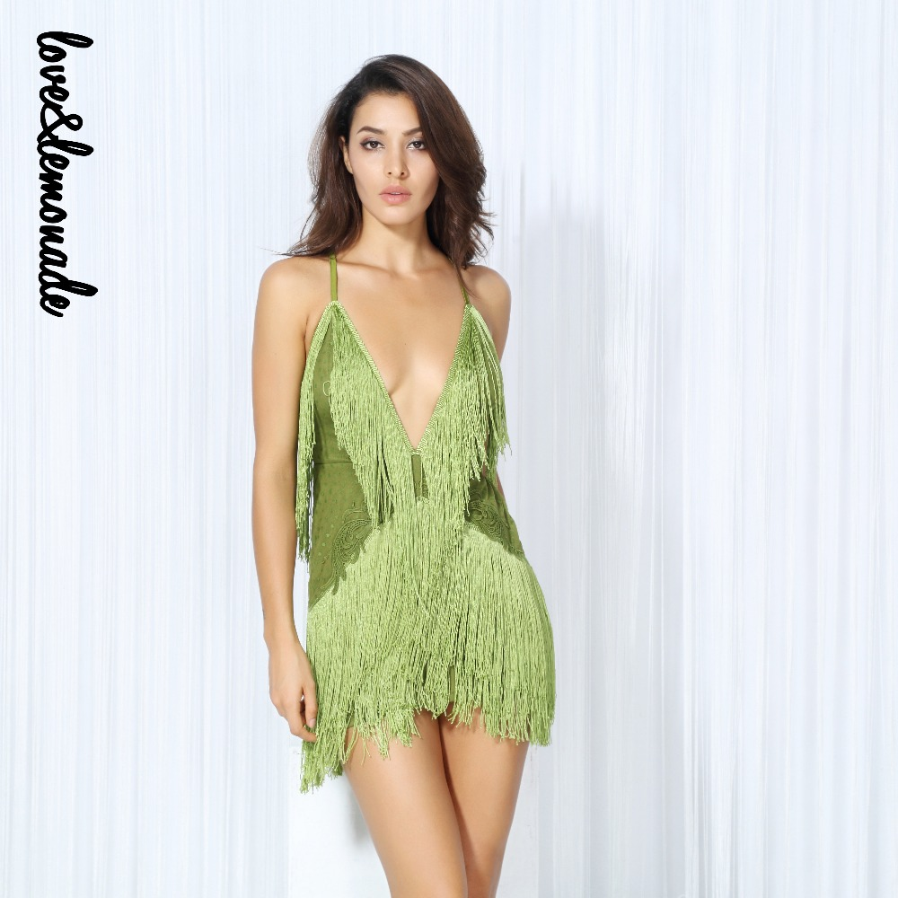 Detail Feedback Questions about Love Lemonade Green Deep V Collar ... cb6b1a82b972