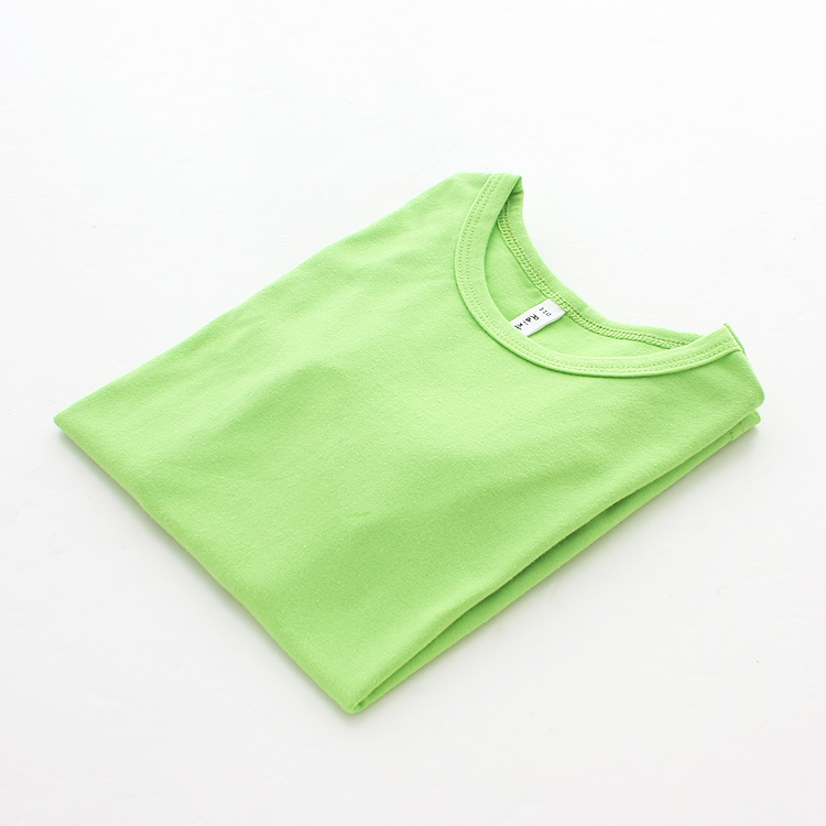 Autumn New 100% Cotton Kids T Shirt Candy Color Long Sleeve Baby Boys Girls T-Shirt Children Pullovers Tee Girl Boys Clothes 8