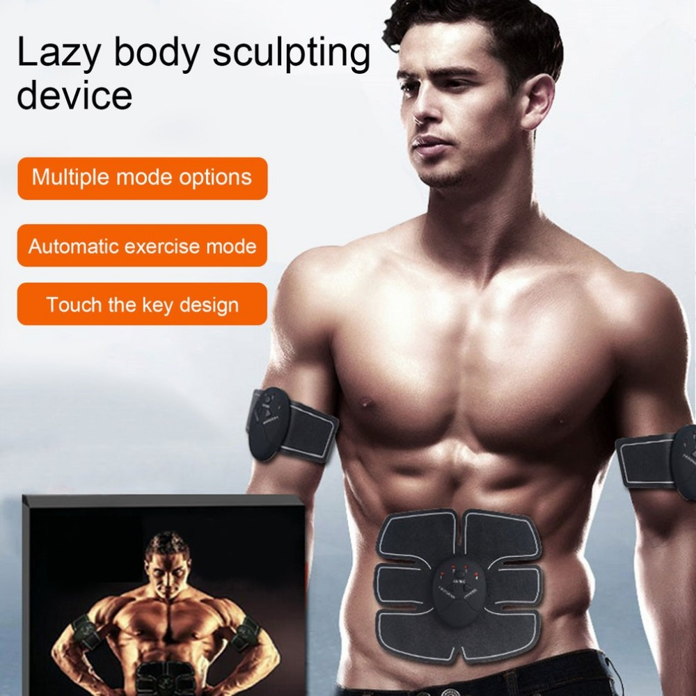 Abdominal Muscle Trainer Electric Pulse Treatment Massager Abdominal Muscle Trainer Wireless Sports Muscle Stimulator Fitness<br>