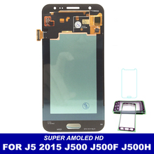 For Samsung Galaxy J5 2015 J500 J500F J500G J500Y J500M J500H LCD AMOLED Display with 20 Pins Digitizer Touch Screen Replacement(China)