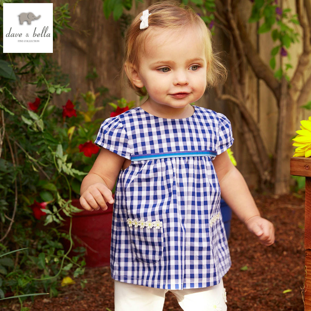 DB4732 dave bella summer baby girls fashion clothing sets kids stylish clothing sets toddle cloth kids sets baby fancy clothes<br>