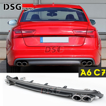 A6 C7 Rear Bumper Diffuser with Exhaust Tips For Audi A6 C7 4-door Sedan 2012 - IN(China)