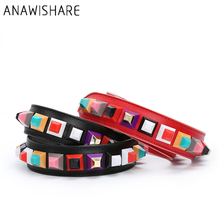 ANAWISHARE Handbag Belt Colorful Rivet Strap Replacement Handbag Leather Strap Accessory Bag Part Adjustable Belt For Bag 100cm