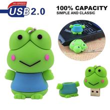 HOT drives gifts Frog animal pen drive 128GB 2GB 4GB 8GB 16GB 32GB frog pendrive usb flash drive pendrive mini memory stick