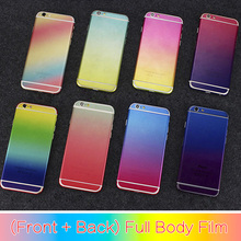 for iPhone 6 Full Body Sticker Case Luxury Colorful Skin Decal Screen Protector for iPhone 6S 6 Plus Cover with Logo Cut