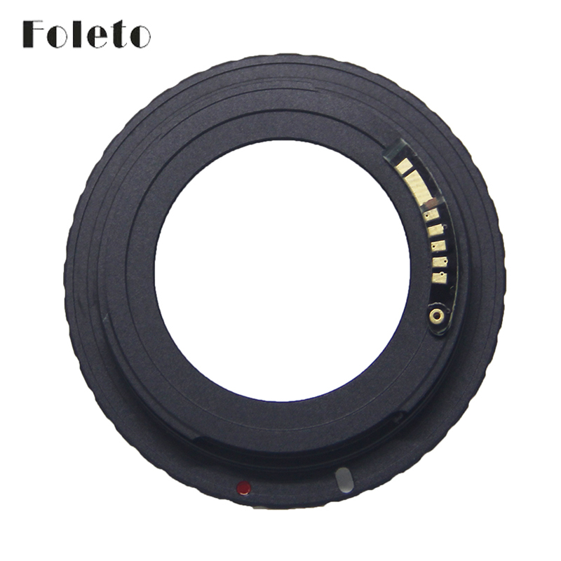 Foleto AF Camera M42 E Black AF Confirm Mount Adapter For M42 Lens to For Canon
