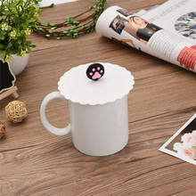 12 Colors Cute Creative Magical  Silicone Leakproof Airtight Sealed Coffee Cup Suction Seal Lid Cap  Cover