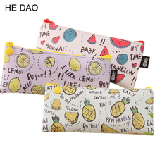 Buy Fresh Style Fruits Pu Leather Pencil Case Stationery Storage Organizer Bag School Office Supply Escolar for $1.44 in AliExpress store