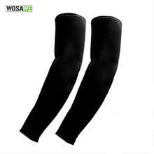 WOSAWE Cycling Arm Cover Sun Protection Golf Sleeve Cooling Arm Sleeves 1 Pair Athletic Sport Skins Sun Protective UV Cover(China)
