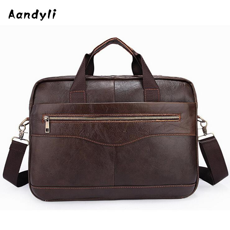 Cowhide Handbags Men Crossbody Bags Mens Shoulder Bag Leather Business Laptop bag <br>