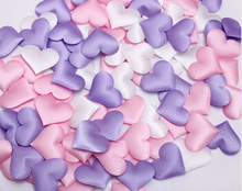 250 Pcs Sponge heart shaped Artificial Flower lWedding throwing petals Marriage bed throwing petals Party Table Decoration(China)