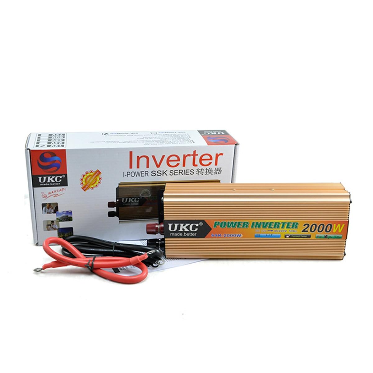 Car Inverter 12V 220V 2000W 50HZ with Battery Charger Power DC 12V to AC 220V CY178-CN-2<br><br>Aliexpress