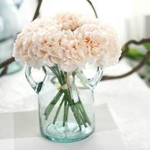 Artificial Peony Silk Flower Bridal Bouquet Wedding Bouquets Fake Hydrangea for Home Party Wedding Garden Decoration 5pcs/bunch(China)