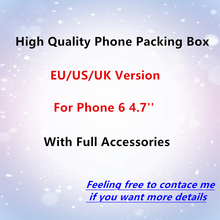 20pcs/ High Quality US/EU/UK Version Phone Packaging Packing Box Case For iPhone 6 4.7'' With Full Accessories Package Box