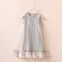 new 2017 fashion style summer Girls baby tassel dress children mesh dresses for girl children clothing