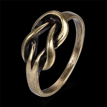 Ancient Bronze Color Series Ring Fashion Trend Ring Female Models Simple blue Color 2 Rings(China)