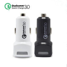 For Qualcomm Quick Charge 3.0 9V 12V 1.5A 2 Ports Micro USB Car Charger for iPhone 7 6s Xiaomi QC2.0 Compatible Car-Charger