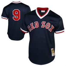 MLB Men's Boston Red Sox Ted Williams Roger Clemens 34 Davids Ortiz Retirement Patch Player Baseball Jersey(China)
