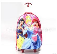 3D Cartoon Kids Trolley Bag For school Kids Travel Luggage case bag with wheels Children Rolling bags case kids Wheeled Bags(China)