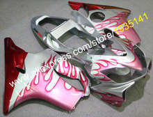 Hot Sales,For Honda CBR600 F4i 2001-2003 CBR600F4i 01 02 03 CBRF4i Pink Flame Aftermarket Motorcycle Fairing (Injection molding)(China)