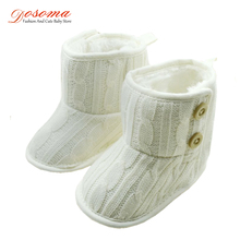 Baby Girls Boys Warm Cute Snow Boots Shoes Knitting Winter Plus Fur Baby Boots Fashion First Walkers Safety Infant Shoes 3-18 M