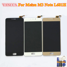 "LCD Display +Digitizer Touch Screen Assembly For Meizu M3 Note L681H Cellphone 5.5"" Black / White / Gold color(China)"