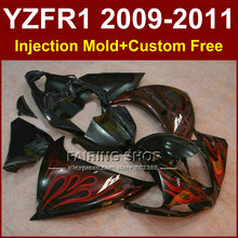 Red flame Injection mold Motorcycle parts for YAMAHA fairings YZF-R1 09 10 11 12  YZF R1 2009 2010 2011 bodywork YZF1000 +7Gifts