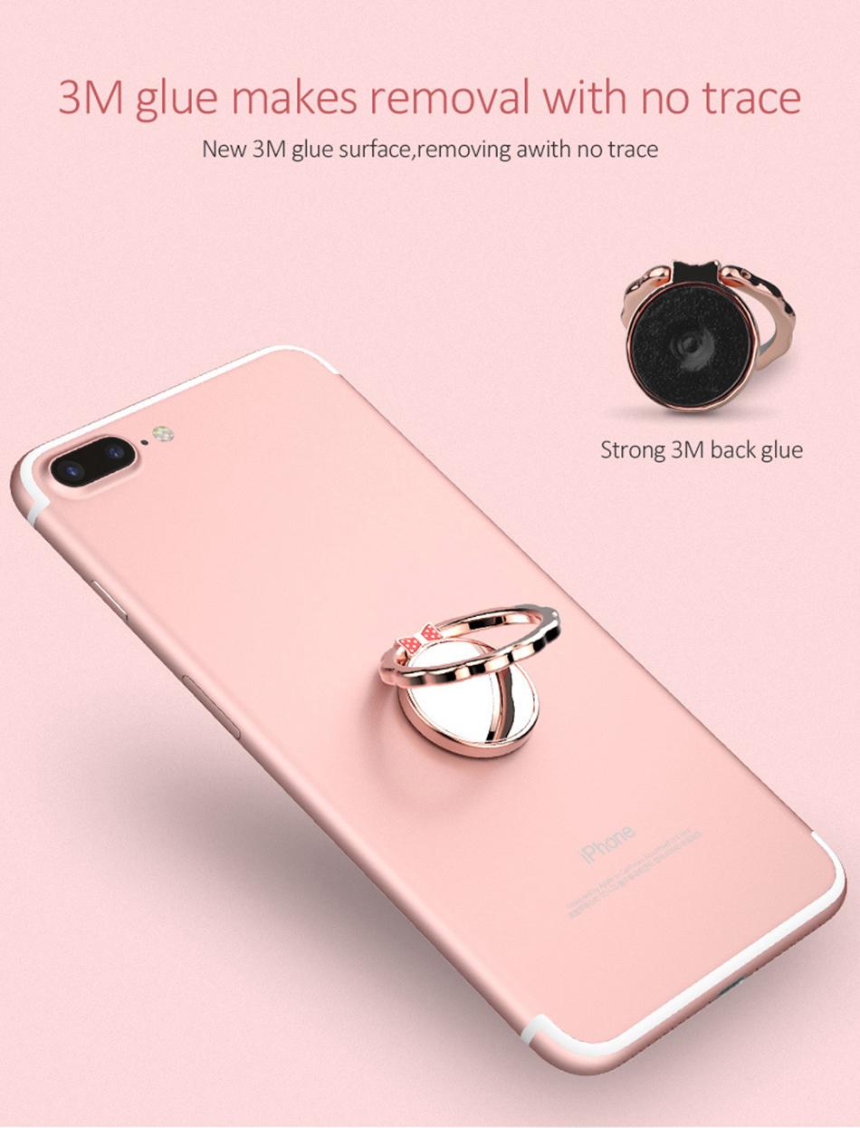 Original H&lOO mirror Ring Bracket Finger Grip Phone Desktop Holder Safe and Firm Built-in Iron Sheet for Most Mobile Phones (6)