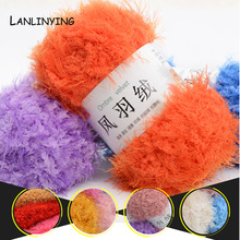 Free Shipping Fur Yarn Skein High Quality Ultra Soft Coral Fleece Baby Warm Yarn Knitting Hot Sale .Y003(China)