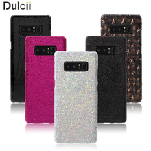 Dulcii Case For Samsung Galaxy Note 8 Leather Coated PC Mobile Casing for Samsung Galaxy Note 8 - Glittery Sequins / White(China)