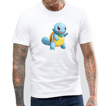3d Anime  Mystery Dungeon Explorers Squirtle Design Men's T-shirts Cotton Short Sleeve O-neck T Shirt Men Brand Clothing